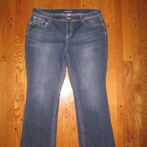 MAURICES CURVY BOOT CUT JEANS PLUS SIZE 22 R